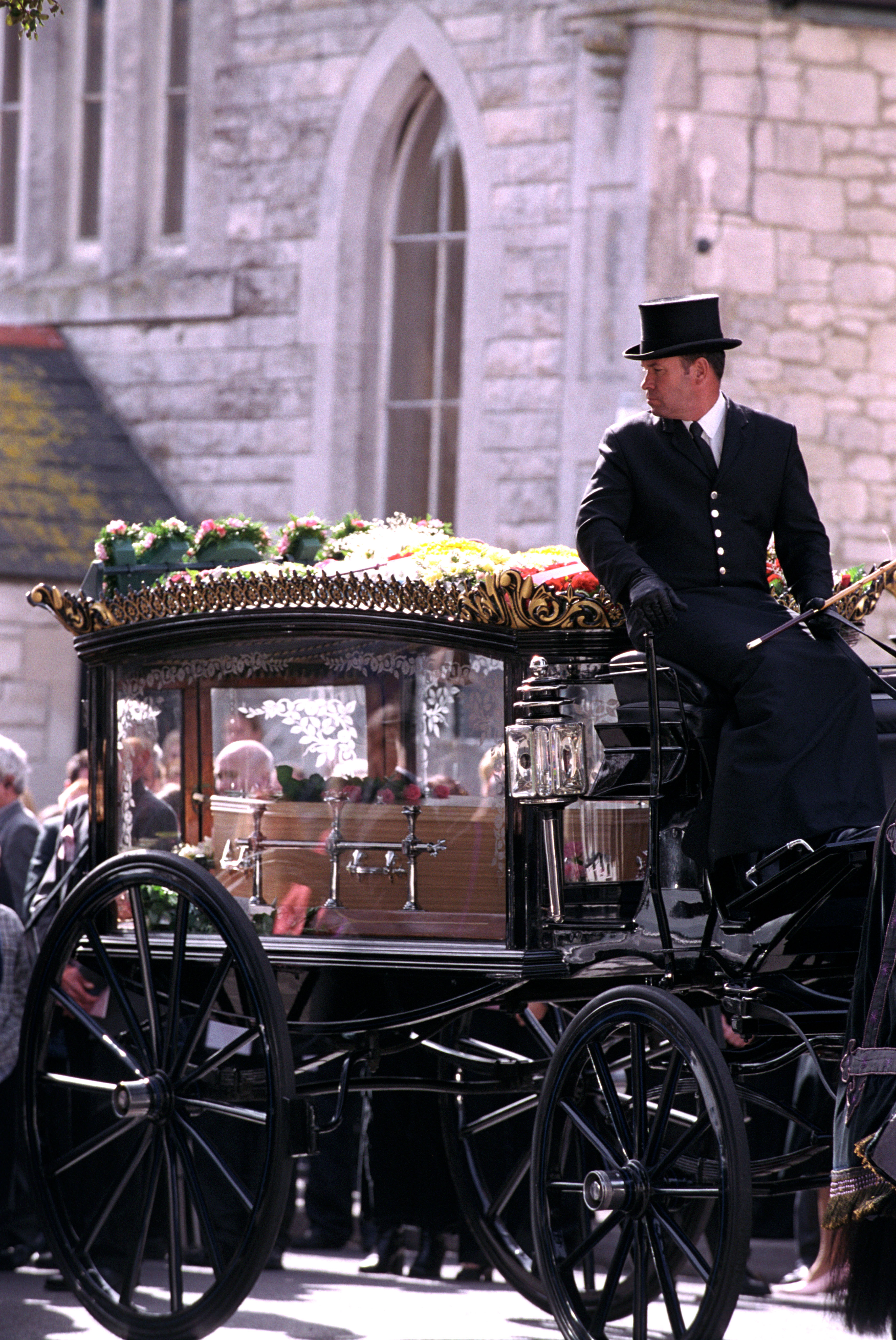 Horse-drawn hearse